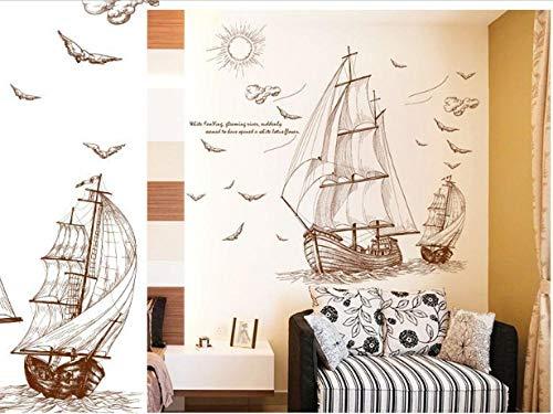 Vinilo decorativo Alquiler de veleros Casa Pintura decorativa Sala de estar Dormitorio...