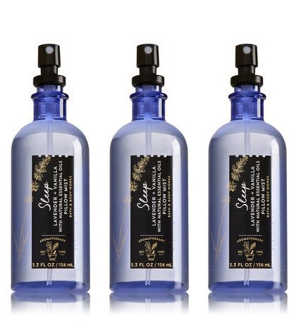 Bath & Body Works Aromatherapy Sleep Lavender Vanilla Pillow Mist, 5.3 Fl Oz, 3-Pack, (Packaging May Vary)