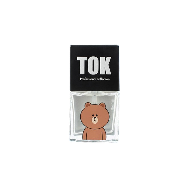 TOK Line Friends ネイル基本ケア ベースコート トップコート キューティクルオイル キューティクルリムーバー 栄養剤 /TOK Line Friends Nail Hybrid Basic Care[海外直送品] (Base Coat(ベースコート)) [並行輸入品]