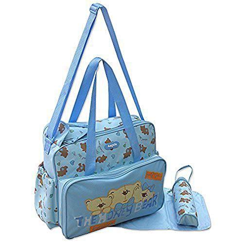 GMMH 3-delig baby kleur blauw luiertas verzorgingstas luiertas babytas reizen kleurkeuze