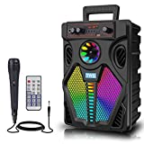Bluetooth Speaker PA System Music Player 60W Big Speakers Bluetooth 5.0 Wireless Speaker TWS Pairing Karaoke Machine Portable Skull Speakers Support TF Card/AUX For Home Theater System with Microphone