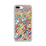 iPhone 7 Plus/8 Plus Pure Clear Case Cases Cover Sponge Bob Sticker Bomb
