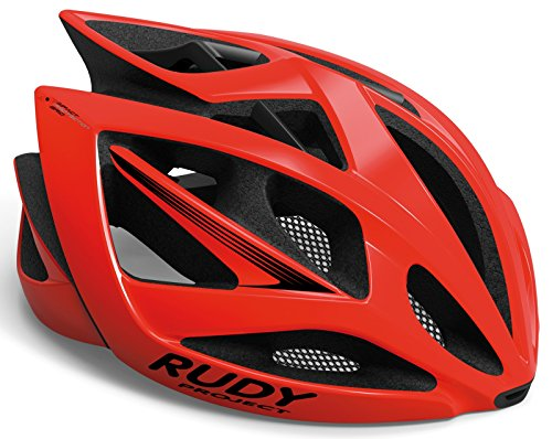 Rudy Project RED BLACK SHINY L, HELMET AIRSTORM Unisex adulto, Large