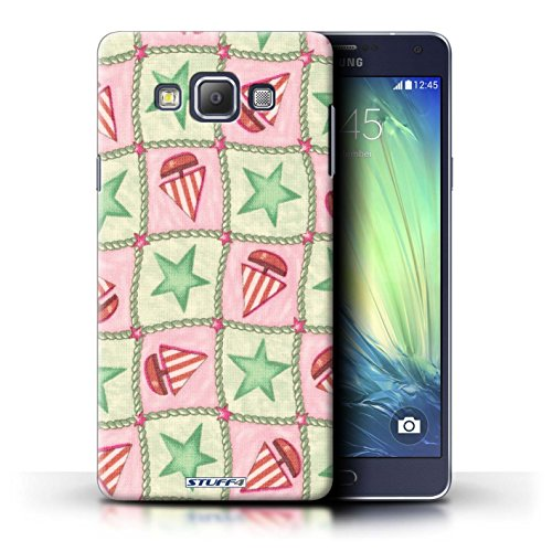 STUFF4 telefoonhoesje/hoes voor Samsung Galaxy A7/A700 / groen/rood ontwerp/boot/sterren patroon collectie/door Penny Lane Publishing, Inc.