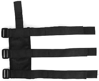 Qiilu Fire Extinguisher Belt, Auto Car Fire Extinguisher Fixing Holder Belt Adjustable Strap Fit for Gladiator(Black)