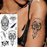 tzxdbh 7pcs-Tatuaje Temporal Mangas Tatuajes Brazo delfín mar Golondrina Etiqueta engomada del Tatuaje niñas Mujer Moda pequeño Tatuaje Cuerpo Arte calcomanías Animales 7pcs-