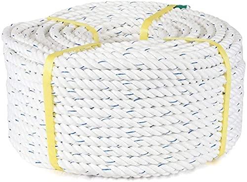 【マリン用品の阪栄商会オリジナル】日本製 スパンエステル ロープ 14mm x 100m