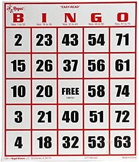 Regal Games 50 Jumbo Easy Read Bingo Cards