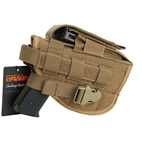 EXCELLENT ELITE SPANKER Tactical Adjustable Pistol Holster for Glock M1911 G17 G18 G19 G26 G34 XD-45acp CZ P-10C (Coyote Brown)