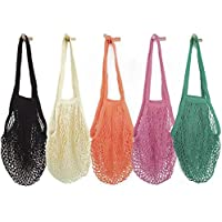 5 Pack HotShine Mesh Bags Reusable Cotton Mesh Grocery Bags