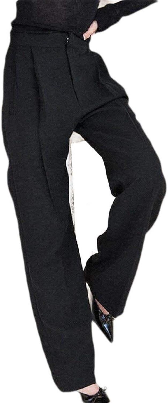 PandapangCA Womens Fashion High Waisted Wide Leg Trousers Solid Long Pants