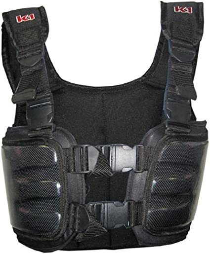 Cuircon Auto Racing Body Protectors Go Kart Carbon Rib Vest//Riders Safety Jackets//Body Armour Youth Small, Black//Silver