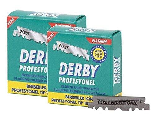 Derby Rasierklingen Professional 200 / Doppelpack - 2 x 100 Stück rostfrei einzeln verpackt