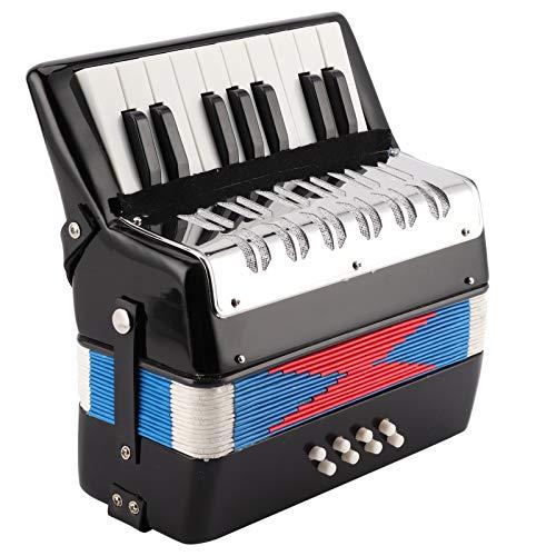 Juguete de acordeón para niños, acordeón para Principiantes de 17 Teclas, para Principiantes, Estudiantes, niños, niños
