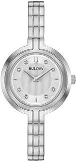 Bulova Classic Rhapsody 96P214 Womens Silver Stainless Steel Band Silver Quartz Dial Watch