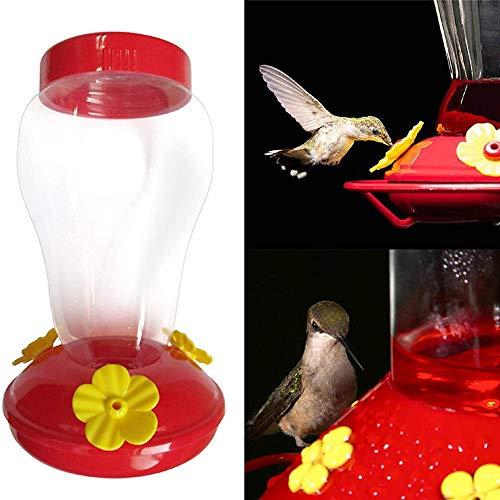 CRZJ Fenster-Vogelfutterhaus, Kunststoff Vogel Wasser Feeder Flasche hängen Kolibri Feeder Garten im Freien Kunststoff Haken Vogel Heißwasser Feeder