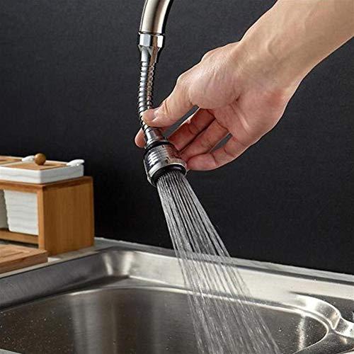 Waterfilterkraan 360 graden Roterende Kraan Adapter Kraan Mondstuk Spoel Zilver Flexibele Keukenkraan Sproeier