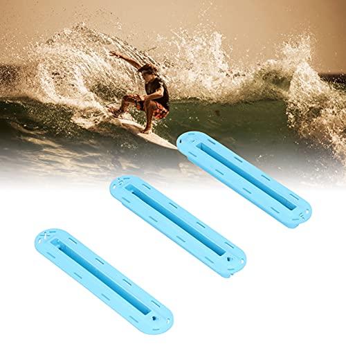 Caja de Aletas Base de la Aleta, Tabla de Surf Resistente Ranura del timón Instalación Conveniente Tapones de Aleta Tabla de Surf Plástico práctico para Tablas de Surf(Blue)