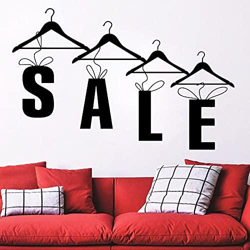 Etiqueta de la pared de bricolaje tienda de ropa de moda oferta percha ventana vinilo etiqueta de la pared decoración del hogar papel tapiz mural autoadhesivo extraíble 66x42cm