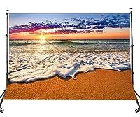 Lyly郡( 10× 7ft The Seaside Sunset Backdrop布ブース背景スタジオ小道具写真107–930
