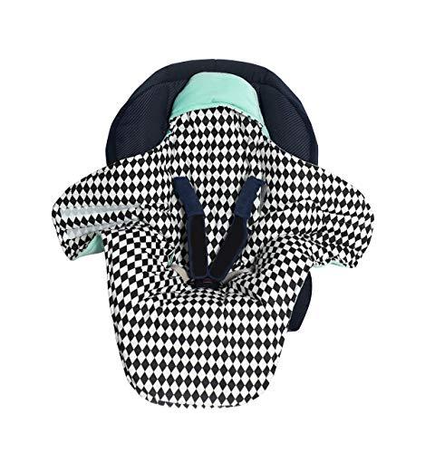 Sango Trade Einschlagdecke für Babyschale 100{879e77a836bb748f85fa85e15a3290f3c0d8995300512b69c21f7e84783d1cc7} Baumwolle mit Velvet Decke für Autositz Baby Decke für Kinderwagen 100x120 cm