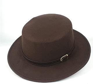 Lei Zhang Men Women Authentic Flat Top Fedora Hat Jazz Hat For Gentleman Casual Wild Fascinator Hat Size 56-58CM