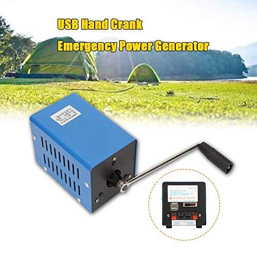 Handkurbelgenerator,Jectse 20W 2000 U/min Manuelle Kurbel Generator Multifunktions Tragbare Handkurbel Generator Hochleistungs USB Ladegenerator für Notfallkommunikation,Tourismus,Notstrom