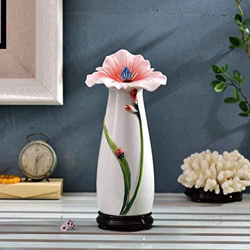Vaas decoratie Classical mooie roze bloem keramische vaas prachtige kunst handgeschilderd decoratieve vaas