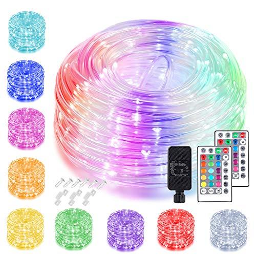 200 LED Rope Lights Outdoor String Lights Plug ...