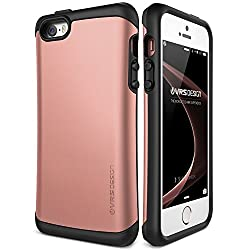 powerful iPhone SE case, VRS design [Thor][Rose Gold]  – – [Military Grade Drop Protection][Natural Grip]  behind…