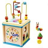 Jouets pour bébé Perle en Bois Labyrinthe éducatif Forme Sorter Activité Horloge en Forme de Cube Jouets Cadeaux pour 1 à 4...