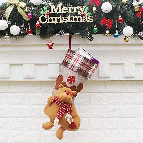 MAXJCN Calcetines, Navidad de la Historieta Calcetines airbags de Cortina Fuentes de Las Decoraciones Adornos de Navidad (Color : 2, Size : 21.5 * 50.5 * 24cm)