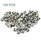 Maxmoral 100pcs Toothed Hex 6/32 Screw 6-32 Computer PC Case Hard Drive Motherboard Mounti...