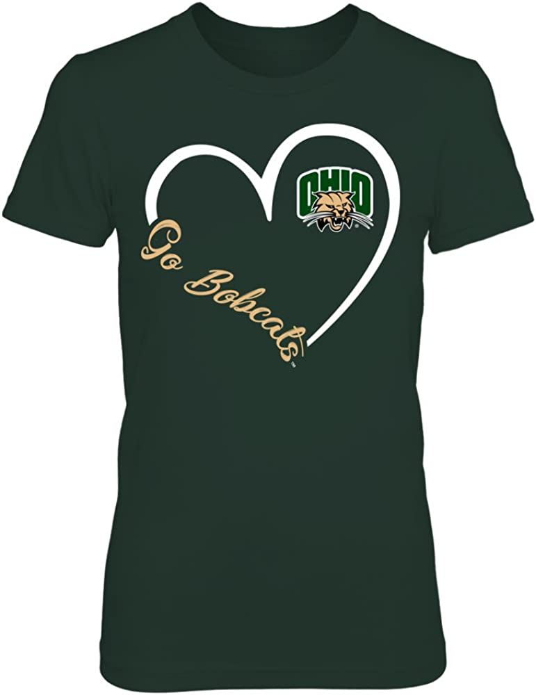 FanPrint Ohio National products Bobcats Hoodie - Heart High material If-Ic32-Ds75 3-4