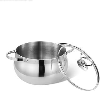 Olla JXLBB Sopa de Acero Inoxidable 304 20 cm Incremento Grueso Antiadherente Utensilios de Cocina Oído Oído Cocina de inducción Cocina de inducción Universal