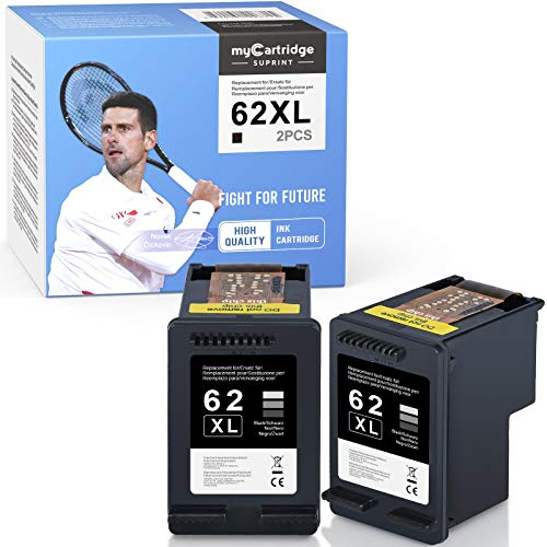 myCartridge SUPRINT 62XL 62 - 2 cartucce di inchiostro rigenerate per HP 62 62XL, compatibili con HP OfficeJet 250 200 5740 5742 Envy 7640 5640 5540 5548 5646