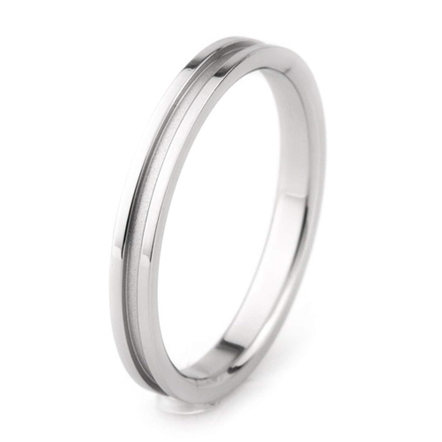 現実的力学複製するe-宝石屋 チタン プラチナイオンプレーティング(金属アレルギー防止)加工 結婚指輪 リング (8)