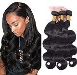 Brazilian Body Wave Virgin Hair 3 Bundles 8A Grade Virgin Human Hair Bundles 100% Unprocessed Virgin Human Hair Extensions Natural Color (10 10 10inch)