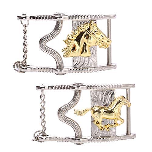 Harilla 2X Hebilla de Cinturón de Vaquero Masculino Hebilla de Reemplazo de Cabeza de Caballo Accesorios para Pantalones