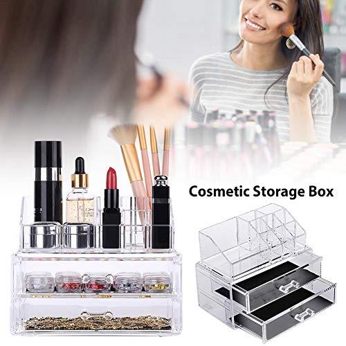 Perfecthome Opbergdoos voor cosmetica, acryl, transparant, multifunctioneel, type lade, opbergdoos voor kantoor, sieraden, spijkers, gereedschapskist
