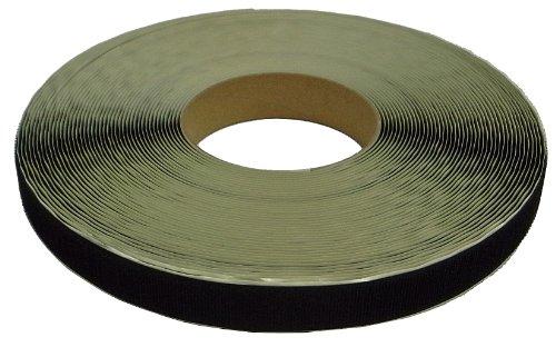 クラレファスニング 粘着付 マジックテープA面フック 幅25mm 長さ25m 黒 箱入り