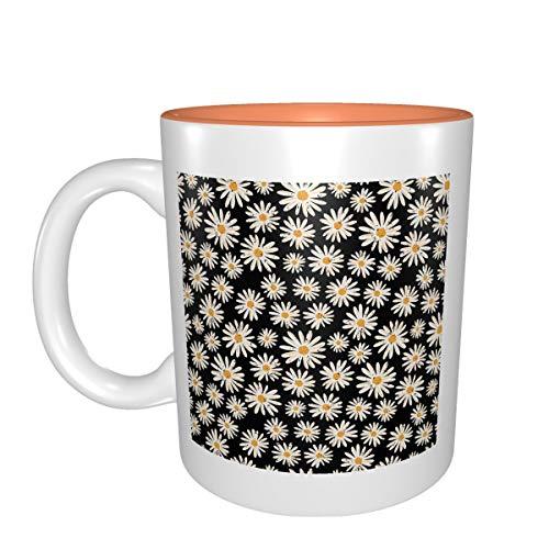 Vintage Daisy Flowers mejor idea regalo de cumpleaños para tazas de porcelana