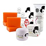 Kojie San Kojic Acid Lightening Soap, Cream and Lotion. COMPLETE KIT by Kojie San