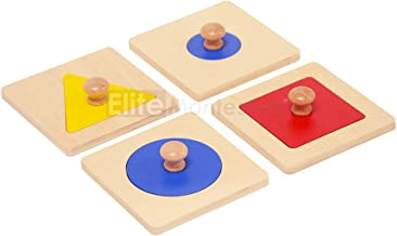 Elite Montessori Single/Multiple Shape Puzzles Preschool Toddler Learning Material (Single Shape Puzzles)