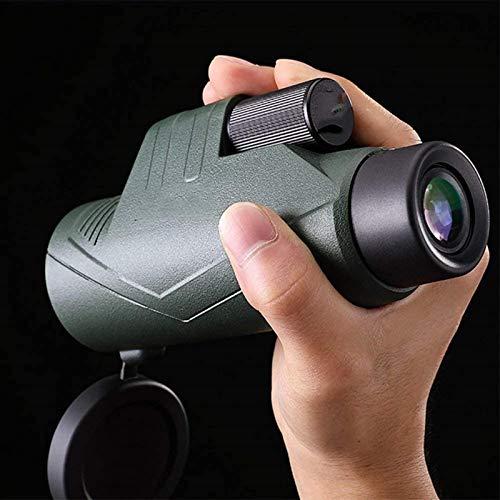 ZUOAO Telescopio monocular BAK4 FMC 8x16 (Clip para teléfono móvil y trípode), monocular HD portátil de Alto Rendimiento para observación de Aves, Camping, viajeros, Caza, conciertos