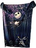 Disney The Nightmare Before Christmas Comfy Blanket with Sleeves ~ Jack Skellington & Zero ~ Unisex Adult Size