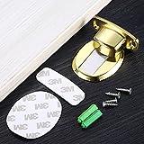 QQCY Zinklegierung Boden Türstopper Selbstklebender,Bohren Door Stopper,Schutzpuffer...