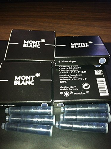 Montblanc ink-cartridge blister 6 blister card (12 Ink-cartr.) blue-black 35110