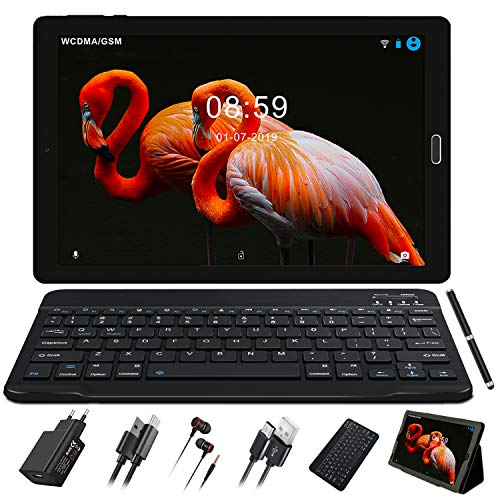 Tablet 10,1 Zoll 3 GB RAM + 32 GB ROM Rweiterbar 64 GB, Tablet PC IPS HD (1280 x 800), Dual Kamera/ SIM/ Sprecher, WiFi | GPS | Typ-C | Bluetooth 4.0 | Tablets mit Bluetooth Tastatur und Maus
