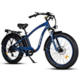 MaxFoot 26inch Fat Tire Electric Bike for Adults 750W MF-18P Mountain Ebikes 48v Electric Beach Cruiser